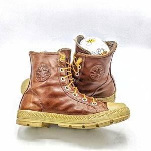 Converse Chuck Taylor brown leather sneaker boot
